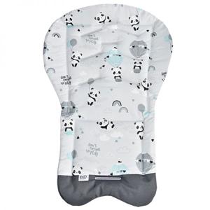 Eko Vložka do kočárku bavlněná Panda Turquoise 70x48cm