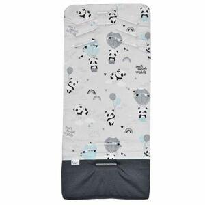 EKO Vložka do kočárku memory Panda Turquoise 80x40cm