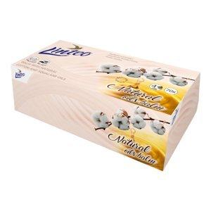 Linteo Papírové kapesníky 4vrstvé s balzámem a bavlníkovým olejem 70ks BOX