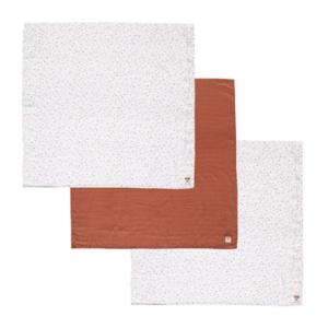 Bébe-Jou Mušelínová plenka 70x70 cm set 3ks Fabulous Hearts