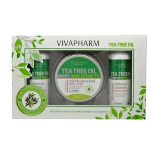 VivaPharm  Vivaco Dárková kazeta kosmetiky s Tea Tree Oil 3ks
