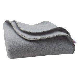 New Baby Dětská fleecová deka šedá hvězdičky 100x75cm