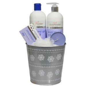 Vivaco  VivaPharm Dárkové balení kosmetiky s kozím mlékem v plechovém obalu 5ks