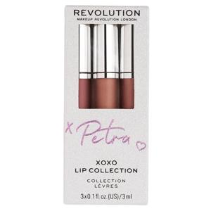Makeup Revolution London  Revolution X Petra XOXO sada na rty 3x3ml