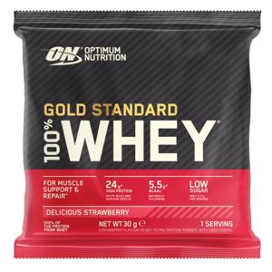 Optimum Nutrition Sample 100% Whey Gold Standard lahodná jahoda 30g