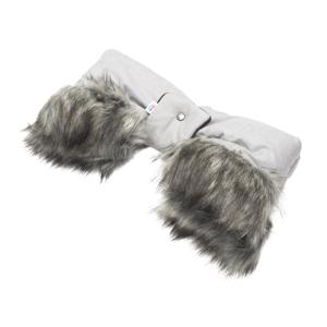 New Baby Rukávník na kočárek 2v1 s kožešinkou grey