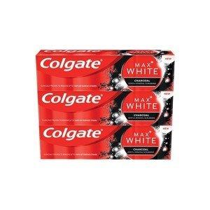 Colgate Zubní pasta Max White Charcoal 75ml 3 kusy