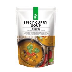 AUGA Pikantní curry polévka s kokosem a houbami shiitake BIO 400ml