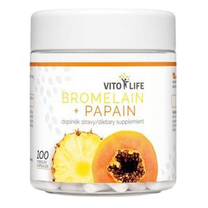 Vito Life Bromelain + Papain 250+100 mg 100 tobolek