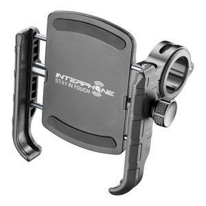 Interphone Univerzální držák na mobilní telefony Crab s úchytem na řidítka, černý