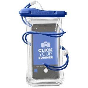 CellularLine Vodotěsné univerzální pouzdro pro mobilní telefony Voyager, modré