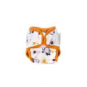 Bobánek Látková plenka novorozenecké svrchní kalhotky extra jemná, patentky - Zvířátka 1ks