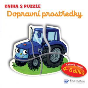 Svojtka Kniha s puzzle Dopravní prostředky