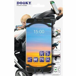 Dooky Univerzální držák na mobilní telefon Black 1ks