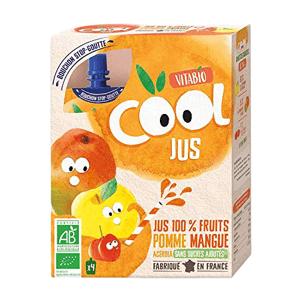 Vitabio Cool BIO Jus jablko, mango a acerola 4x105ml