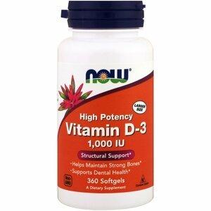 Now Foods Vitamin D3 1000 IU 360 softgel kapslí