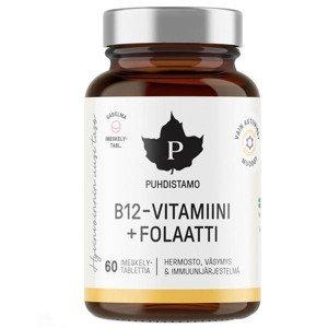 Puhdistamo Vitamin B12 Folate, Malina 60 pastilek