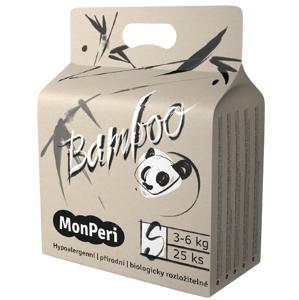 MonPeri Bamboo S 3–6kg Jednorázové bambusové EKO pleny 25ks