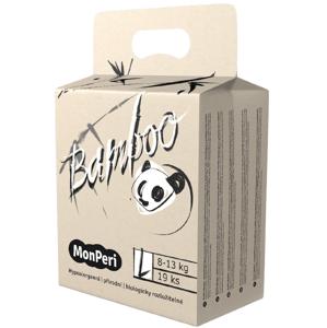 MonPeri Bamboo L 8–13kg Jednorázové bambusové EKO pleny 19ks