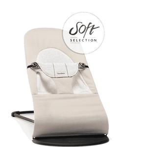 BabyBjörn Lehátko Balance Soft Beige/Grey Cotton/Jersey béžové