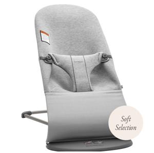 BabyBjörn Lehátko Bliss Light Grey 3D Jersey šedé