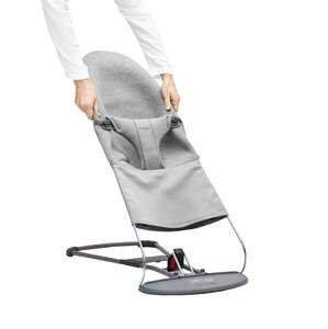 BabyBjörn Potah na lehátko Balance Bliss Light Grey 3D Jersey šedý
