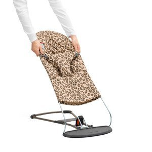 BabyBjörn Potah na lehátko Balance Bliss Leopard Print Cotton béžový