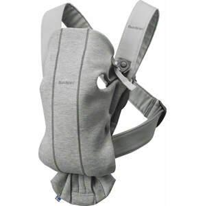 BabyBjörn Nosítko Mini Light Grey 3D Jersey šedé
