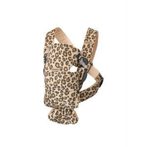 BabyBjörn Nosítko Mini Leopard Print Cotton béžové