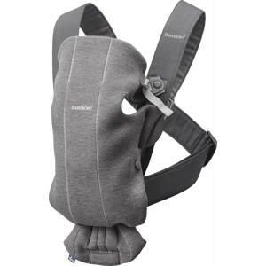 BabyBjörn Nosítko Mini Dark Grey 3D Jersey šedé
