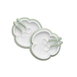 BabyBjörn sada 2 talířků pudrově zelené