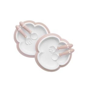 BabyBjörn sada 2 talířků pudrově růžové