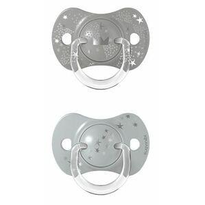 Suavinex Dudlík SX Pro Fyziologický Spread joy +18m stříbrná 2ks