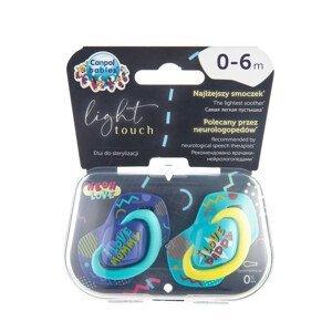 Canpol babies Light Touch Neon Love set dudlíků 0-6 měsíců modrý 2ks