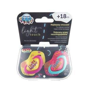 Canpol babies Light Touch Neon Love set dudlíků 18+ měsíců růžový 2ks