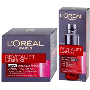 L'Oréal Paris  L´Oréal Paris Revitalift Laser X3 Sada proti vráskám: Denní krém 50ml + Sérum 30ml
