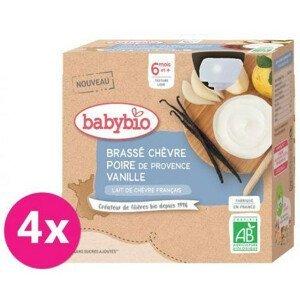 Babybio Svačinka z kozího mléka s hruškou a vanilkou 4x85g