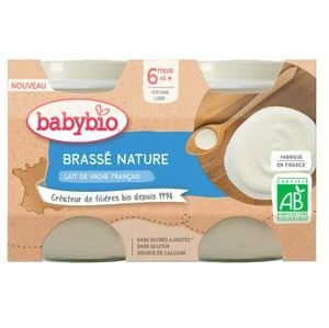 Babybio Brassé z francouzského mléka natur 2x130g