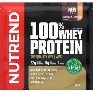 Nutrend 100% Whey Protein čokoláda/oříšek 30g