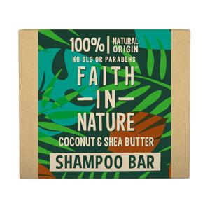 Faith in Nature Tuhý šampon kokos a bambucké máslo 85g