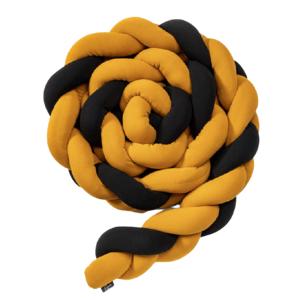 ESECO Pletený mantinel 180cm Black - Mustard