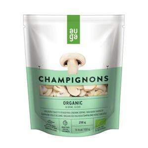 Auga Organic Champignons in brine sliced, bio krájené žampiony ve slaném nálevu, 250g
