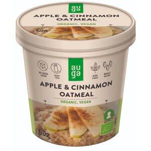 Auga Organic Oatmeal, bio ovesná kaše s jablkem a skořicí, 60g