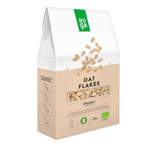 Auga Organic Instant Oat flakes, bio celozrnné instantní vločky 500g
