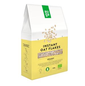 Auga Organic Whole Grain Oat flakes, bio celozrnné vločky 500g