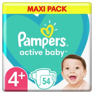 Pampers Active Baby Plenky Velikost 4+ X54ks, 10-15kg