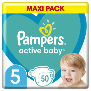 Pampers Active Baby Plenky Velikost 5 X50, 11kg-16kg