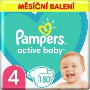 Pampers Active Baby Plenky Velikost 4 X180, 9kg-14kg