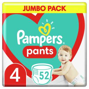 Plenkové Kalhotky Pampers Pants Velikost 4 X52ks, 9-15kg