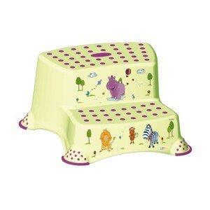 Keeper Dvojstupínek k WC/umyvadlu Hippo zelená